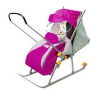 Санки-коляска Nika Ника детям 3 розовый