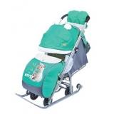 Санки-коляска Ника детям 7-2 Kitty изумруд