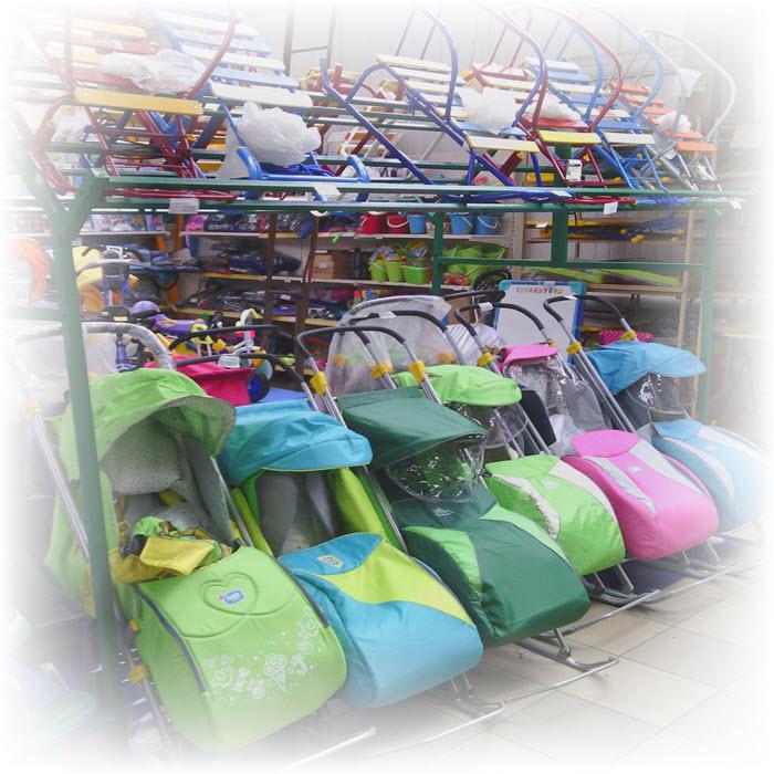 Оптово-розничная база центр Выгодных Покупок Санки-коляски