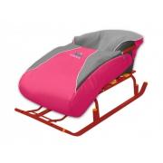 Сиденье для санок с чехлом для ног розовый