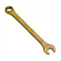Ключ рожково-накидной 17мм (желтый цинк)