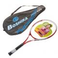 Ракетка для большого тенниса BOSHIKA PRO-689 тренировочная alumin. 257г в чехле красный 134098