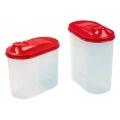 Банка для сыпучих продуктов 1,5л пластик овальная С294 ПБ