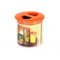 Банка для сыпучих продуктов 0,6л пластик круглая С297 ПБ