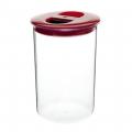 Банка для сыпучих продуктов 1л пластик круглая С296 ПБ