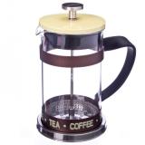 Френч-пресс нерж.сталь с силиконом Coffe- Tea 600мл желтый