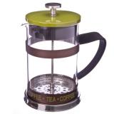 Френч-пресс нерж.сталь, с силиконом Coffe- Tea, 800мл, зелёный