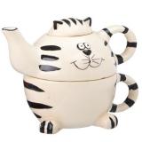 "Чайник 420мл на кружке 300мл PX06115 ""Полосатый кот"""