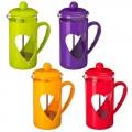 Кофейник пластиковый корпус с прессом 350мл, 4 цвета, B040-350
