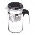 Чайник заварочный с кнопкой 500мл, стекло, пластик