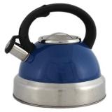 Чайник со свистком нержавеющая сталь 3,5л синий перламутр