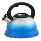 Чайник со свистком нержавеющая сталь 3л синий градиент