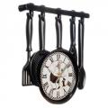 "Часы настенные ""Навеска кухонная черная"" 32х31см, пластик, 1xAA"