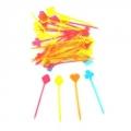 Пики декоративные Карты, цветные, 35шт(85мм)