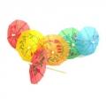 Пики декоративные 30шт, 100мм, Зонтики, цветные