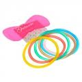 Набор резинок для волос 6шт, 5см, ПВХ, разноцветные, PR-0106