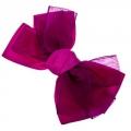 Заколка-зажим, атлас, металл, 6 цветов, 4161-21