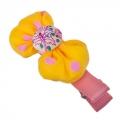Заколка-зажим для волос, металл, текстиль, 6 цветов, 4106-9