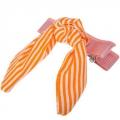 Заколка-зажим для волос, текстиль, металл, 6см, 12 цветов, 4106-31