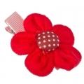 Заколка-зажим для волос, текстиль, металл, 6см, 2 дизайна, 4106-33