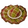 Заколка-зажим для волос, текстиль, металл, 6см, 6 цветов, 4106-37