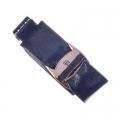 Заколка для волос зажим серия Gentle leather, кожа, 4,5см, (черн белый розов бежев)