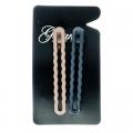 Набор заколок-зажимов для волос 2шт 8см металл, 3722-35