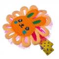 Заколка-зажим для волос, металл, текстиль, 6 цветов, 4106-2