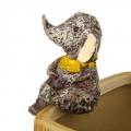 Декор для цветочного горшка в виде слона, полистоун, 5х4см