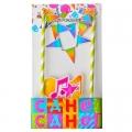 Декор-комплект для торта С днем рождения бумага дерево 6 предметов