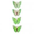 Набор наклеек 4шт 5D Бабочки флуоресцентная 51х13см 12дизайнов 15-00