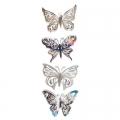 Набор наклеек 4шт Бабочки флуоресцентная 38х11см 2дизайна 15-01