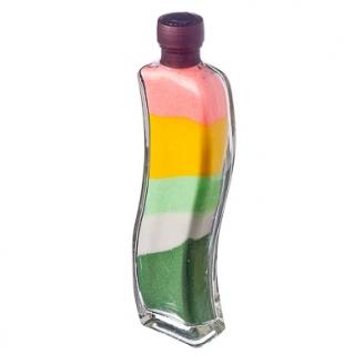 Бутылка декоративная из стекла с песком 22см Волна