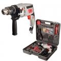 Дрель ударная электр ID-580-K73, 580Вт, 13мм, 0- 3000 об/мин, рег. скор, реверс, кейс+73 пред.