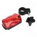 Фонарь велосипедный задний 7 режимов, 5 диодов, пит.батар. 2xААА, красный