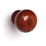 Ручка-кнопка дерево шар лак темная