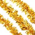 Мишура 200х8см, ПВХ, в виде лепестков, 2 цвета: красный, золото