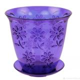 Горшок для цветов Соблазн для орхидей 1,5л пластик поддон фиолетовый