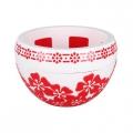 Горшок-кашпо Камелия Люкс 3,5л пластик бело-красный