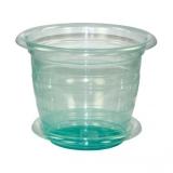 Горшок для цветов Для Орхидей 2л пластик поддон зеленый прозрачный