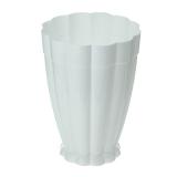 Горшок цветочный пластик 4,5л поддон Фантастика белый