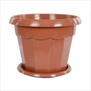 Горшок цветочный пластик 2,5л поддон Гармония коричневый