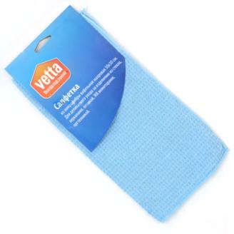 Салфетка из микрофибры вафельная махровая 30х30см /3806