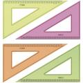 Треугольник 30град. 23см Стамм прозрачный флуоресцентный 4цвета