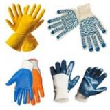Перчатки латексные, резиновые, хозяйственные