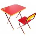 Комплект Алина (стол+стул ЛДСП) красный КА1 Ника