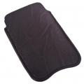 Чехол для телефона 8,5х13см искусственная кожа черный 1411