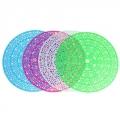 Коврик в раковину противоскользящий, d29см, Цветочный круг, 4 цвета, арт. 3030
