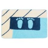 Коврик для ванной Лапки голубой арт.ACF07-061 акрил ворс 1 2см 50x80см
