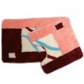 Набор ковриков д/ванной и туалета акрил 2 шт. 50*80 + 50*50см, арт.SCF05-054*2